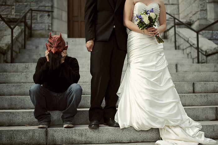 Weird Wedding Portraits
