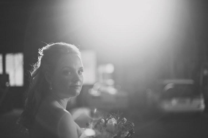 Backlit Wedding Portraits