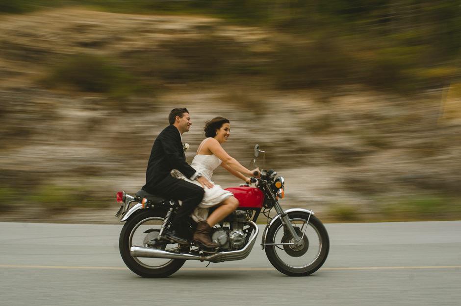 Motorcycle Bride Groom