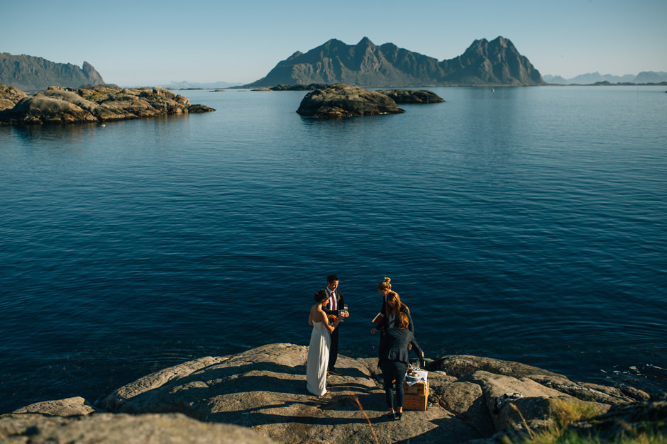 scenic wedding lofoten