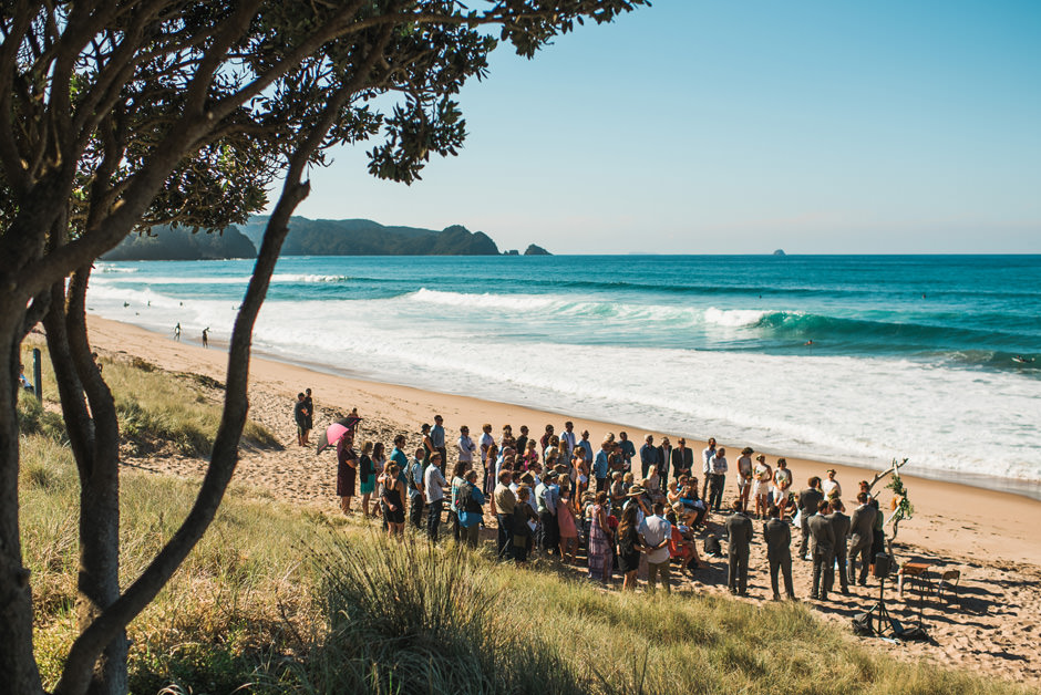 beach wedding new zealand