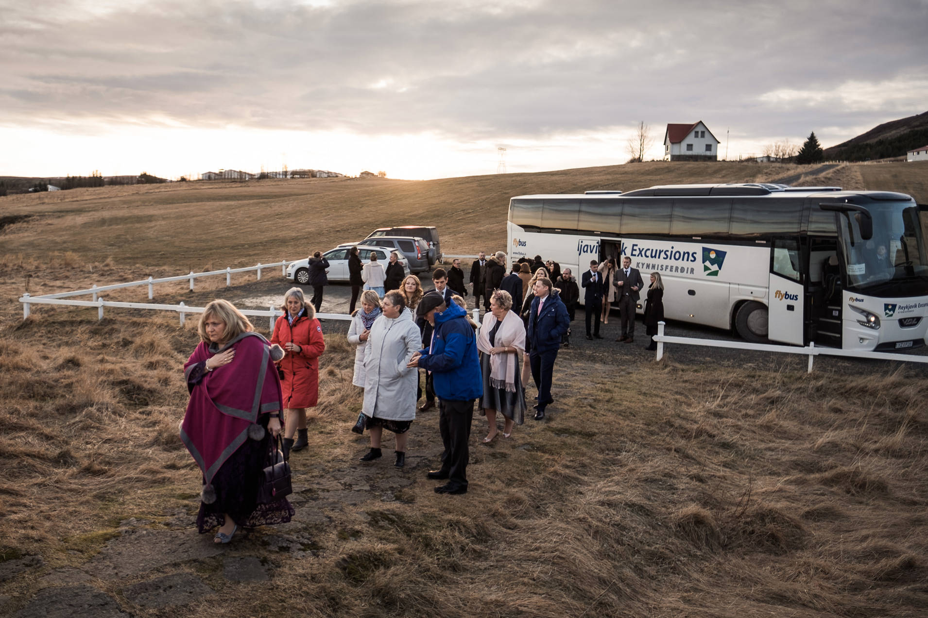 Pink Iceland Wedding