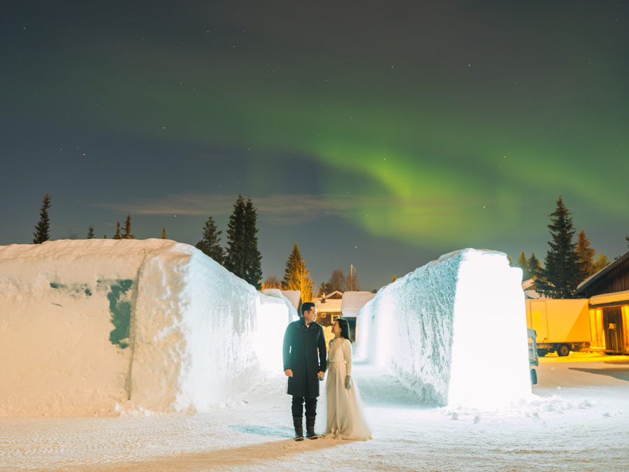 Northern Lights Wedding
