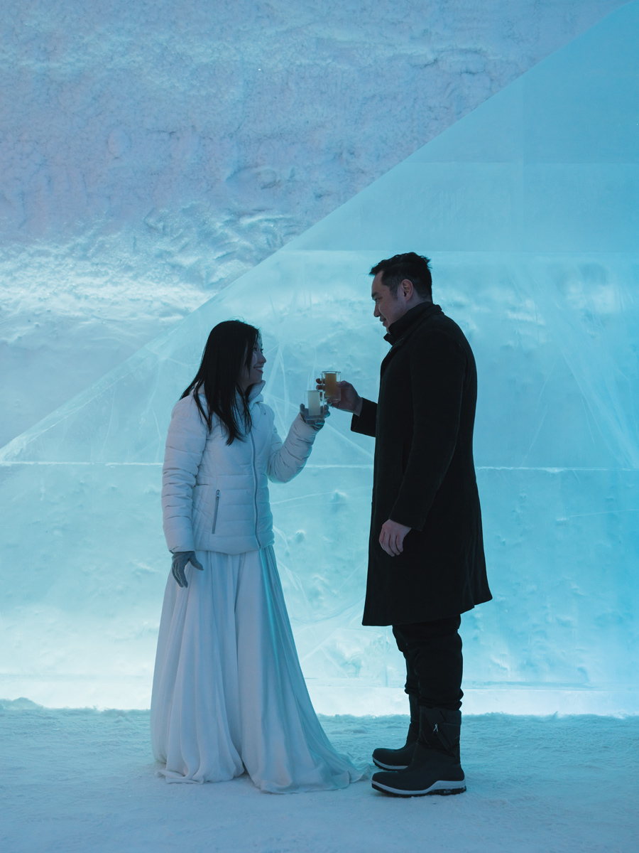 ICEHOTEL wedding photos