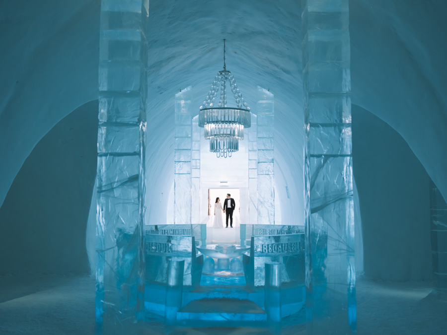 ICEHOTEL wedding photographer