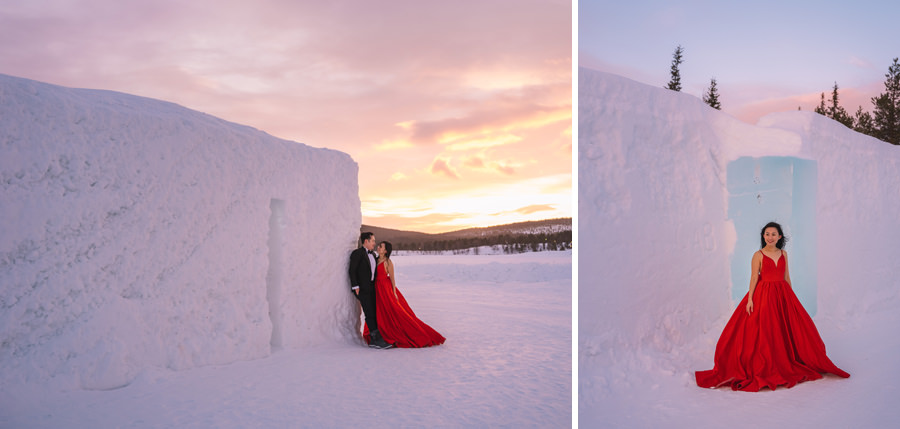 ICEHOTEL wedding photoshoot